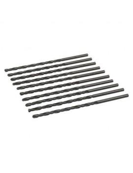 Mèches métriques longues en acier rapide HSS-R, 10 pcs 4,0 x 119 mm