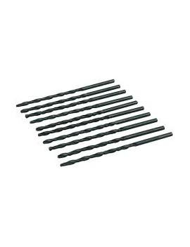 10 mèches métriques longues en acier rapide HSS-R 4,5 x 126 mm
