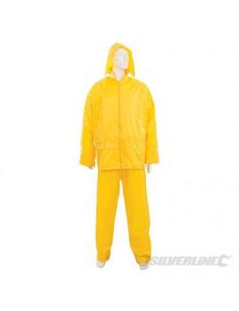 """Tenue imperméable jaune, 2 pcs XL 58 - 120 cm (34"""")"""