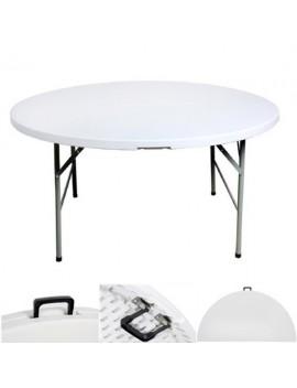 Table ronde Ø 122 cm pliante en malette BJS