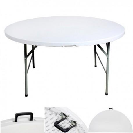 Table ronde pliante en malette de 122 cm BJS