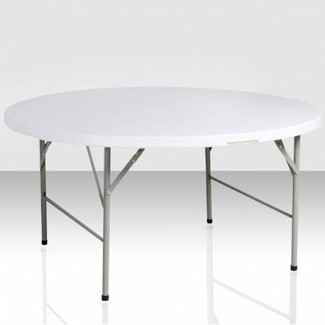 Table ronde de 150 cm pliante en malette BJS
