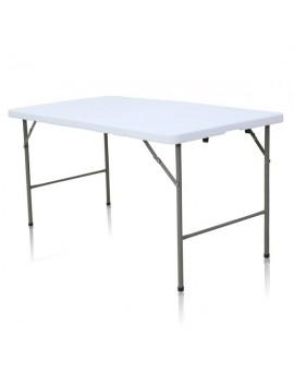 Table rectangulaire 152 x 76 cm pliante en malette