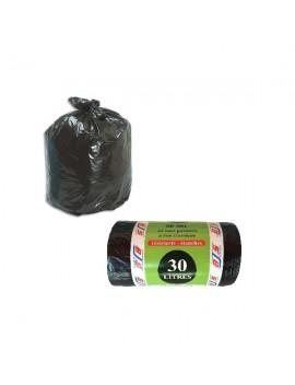 Lot de 40 sacs poubelle 30 L avec liens classiques